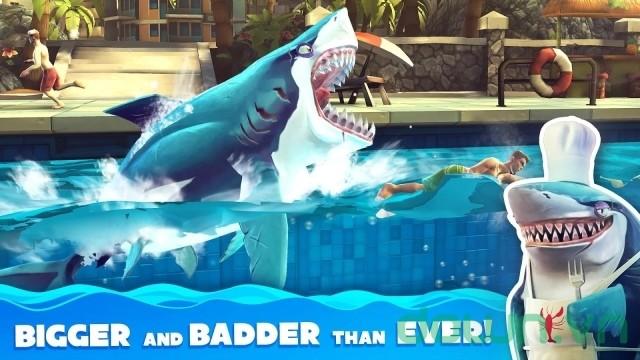 Cá mập khát máu trong game Hungry Shark World