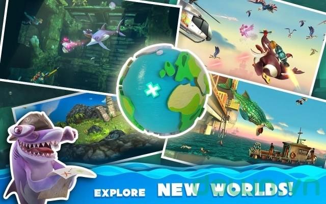 Hungry Shark World sở hữu môi trường game rộng lớn