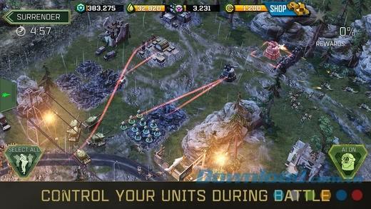 Đồ họa 3D tuyệt đẹp trong War Commander: Assault Rogue cho iOS