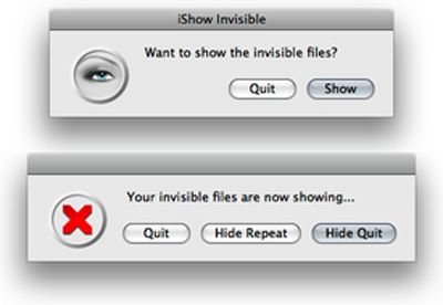 iShow Invisible for Mac OS X