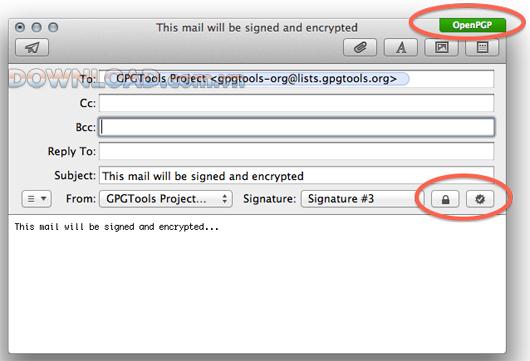 GPGMail là một plugin mã nguồn mở cho Mail của Apple