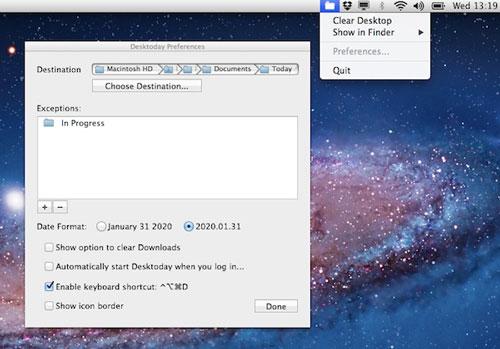 Desktoday for Mac