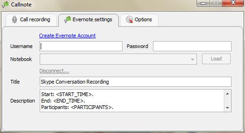 Callnote for Skype