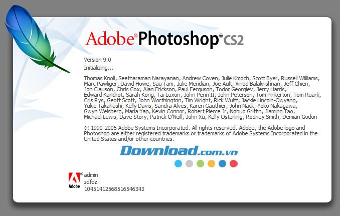 Giao diện của Photoshop CS2