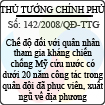 Quyết định số 142/2008/QĐ-TTG
