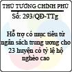 Quyết định 293/2013/QĐ-TTg