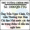 Quyết định số 1006/QĐ-TTG