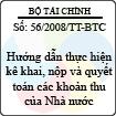 Thông tư số 56/2008/TT-BTC