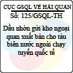 Công văn 125/2013/GSQL-TH