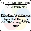 Quyết định số 719/QĐ-TTG của Thủ tướng Chính phủ