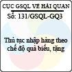 Công văn 131/GSQL-GQ3