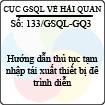 Công văn 133/GSQL-GQ3