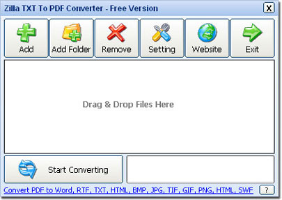 Zilla TXT To PDF Converter for Mac