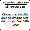 Quyết định 498/2013/QĐ-TTg