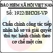 Công văn 1922/BHXH-VP