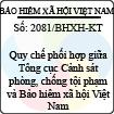 Công văn 2081/BHXH-KT