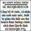 Quyết định 603/2013/QĐ-BNN-CB