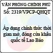 Công văn 2319/VPCP-QHQT