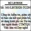 Công văn số 563/LĐTBXH-TCDN