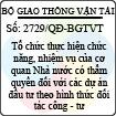 Quyết định 2729/QĐ-BGTVT