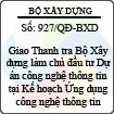 Quyết định 927/QĐ-BXD