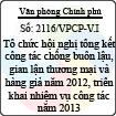 Công văn 2116/VPCP-V.I