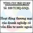 Công văn 889/TCHQ-GSQL