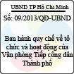Quyết định 09/2013/QĐ-UBND