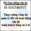 Chỉ thị 02/CT-BGTVT