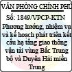 Công văn 1849/VPCP-KTN