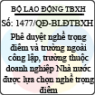 Quyết định 1477/QĐ-BLĐTBXH