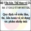 Thông tư 17/2012/TT-BVHTTDL