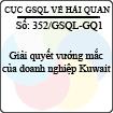 Công văn 352/GSQL-GQ1