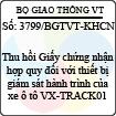 Công văn 3799/BGTVT-KHCN