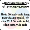 Công văn 9570/VPCP-KGVX