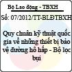 Thông tư 07/2012/TT-BLĐTBXH