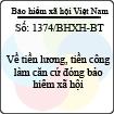 Công văn 1374/BHXH-BT