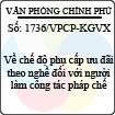 Công văn 1736/VPCP-KGVX