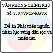 Công văn 2307/VPCP-KGVX