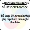 Công văn 875/VPCP-KGVX