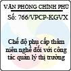 Công văn 766/VPCP-KGVX
