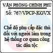 Công văn 767/VPCP-KGVX