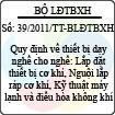 Thông tư 39/2011/TT-BLĐTBXH
