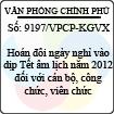 Công văn 9197/VPCP-KGVX