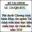 Quyết định 224/QĐ-BTC