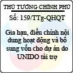 Công văn 159/TTg-QHQT