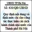 Quyết định 620/QĐ-UBND