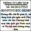 Thông tư liên tịch 04/2013/TTLT-BNNPTNT-BTC-BKHĐT
