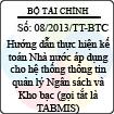 Thông tư 08/2013/TT-BTC