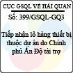 Công văn 399/GSQL-GQ3